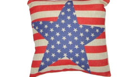 Image of a Vintage Americana Star Pillow