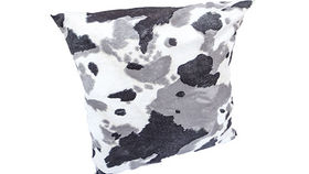 Image of a Grey Cowhide Pillow