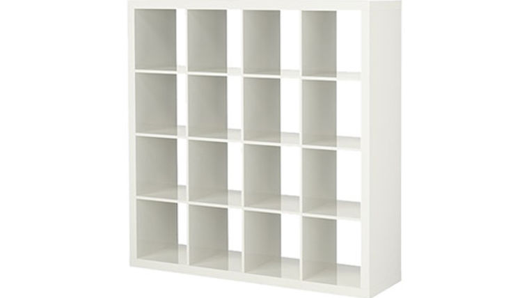White Bar Back Cube Shelves : goodshuffle.com