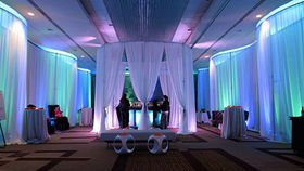 Image of a Sheer Drape Round Canopy, 15ft Diameter