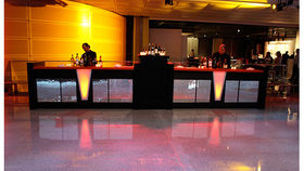 Image of a Bars: Mirror Mosaic Bar, 2 Fronts w/ 1 Pedestal, Straight