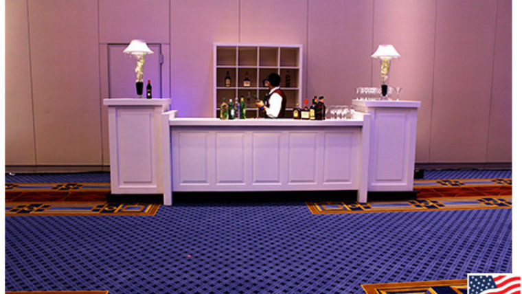 Picture of a Bar: Raised Panel Bar, Single w/ 2 Pedestals