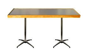 Image of a Brush Metal Natural Communal Table