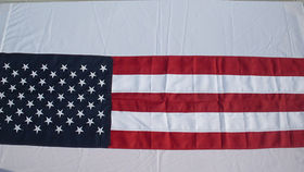 Image of a American Stars and Stripes Bunting, 8'x18""