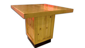 Image of a Knotty Pine Square Table
