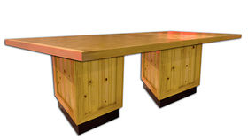 Image of a Knotty Pine Dining Table
