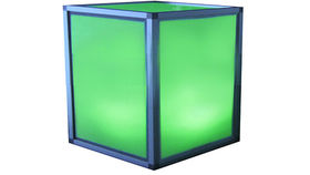 Image of a Lit Cube End Table