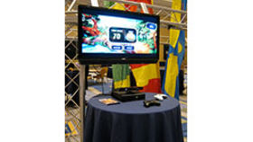 "Image of a Wii or Xbox Game Station w/ 42"" Monitor"