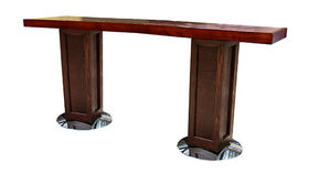 Image of a Mahogany Communal Table with Pedestal Legs