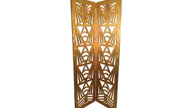 Image of a Gilded Art Deco Screen with 2 Panels