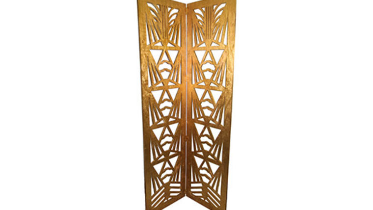 Picture of a Gilded Art Deco Screen with 2 Panels