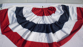 Image of a American Bunting, Pleated, 6ft x 3.5ft
