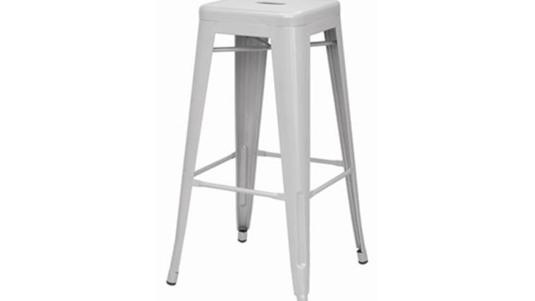 Picture of a Metro White Metal Barstool QS