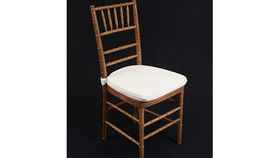 """Image of a Chair: Cushion White Bengaline 1.5"""" w/ Velcro"""