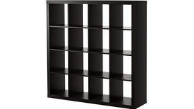 Image of a Mahogany Bar Back Cube Shelves