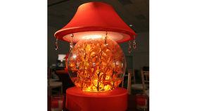 Image of a Fish Bowl w/ Lamp Light