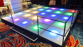 Image of a Riser: Lit Deck Stage or Dance Floor, Programmable LED 4'x4'