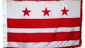 Image of a DC Flag, 3' x 5' with Regalia