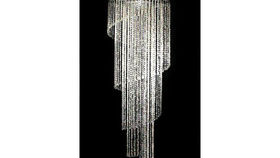Image of a 6ft Chelsea Spiral Crystal Chandelier
