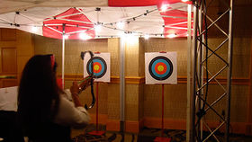 Image of a Bullseye, Crossbow Target Shooting Set
