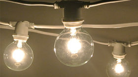 Image of a C7 String Lights, White Wire