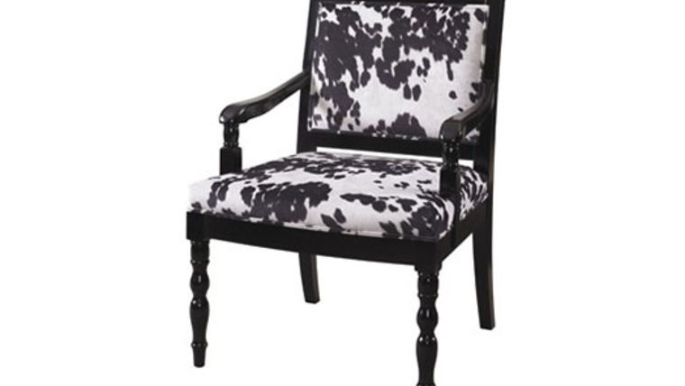Picture of a Cow Hide Arm Chair