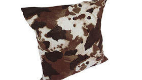 Image of a Brown Cowhide Pillow