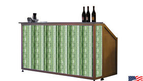 Image of a Lit Bar with Spring Grass Pattern