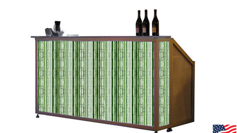 Picture of a Lit Bar with Spring Grass Pattern