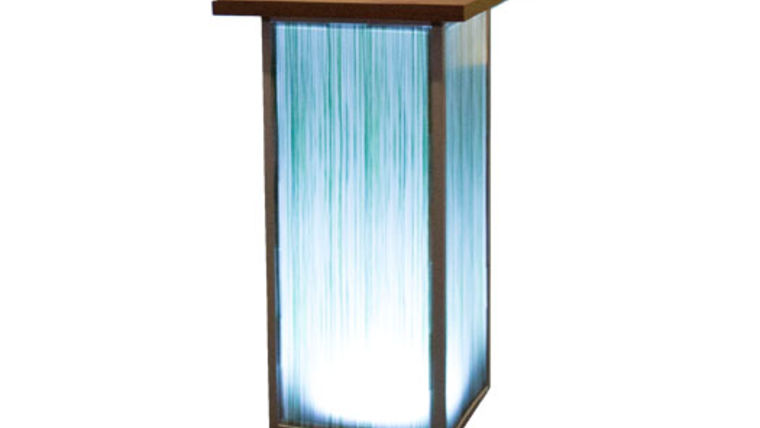 Picture of a Spring Grass Lit Pedestal