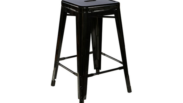 Picture of a Metro Black Metal Barstool