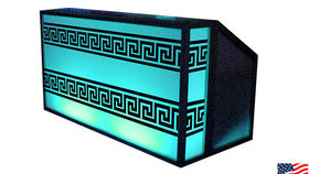 Image of a Lit Bar with Greek Pattern