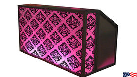 Image of a Lit Bar with Damask Pattern