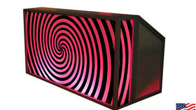 Image of a Lit Bar with Big Spiral Pattern