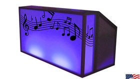 Image of a Lit Bar with Music Pattern