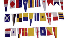 "Image of a Flags:  Signal Flags, Nautical 40ft String 12""x18"" Flags"