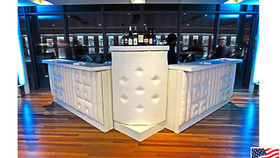 Image of a Bars: White Tufted Front