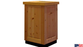 Image of a Bars: Knotty Pine Pedestal, Single