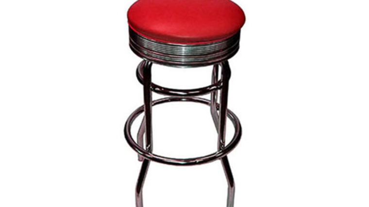 Image of a Barstools:  Retro Chrome Red