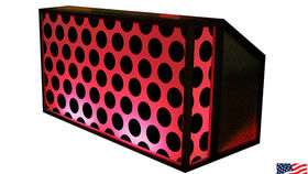 Image of a Lit Bar with Polka Dot Pattern