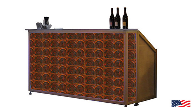 Picture of a Lit Bar with Oyster Veneer Pattern