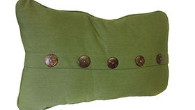 Image of a Green Button Pillow