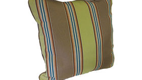 Image of a Earthy Striped Pillow