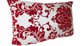 Image of a Red Damask Pillow, Small