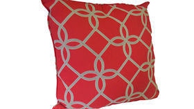 Image of a Red Trellis Pillow