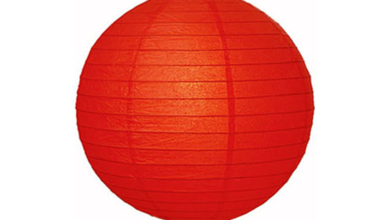 "Picture of a Paper Lanterns: 18"" Red on Lamp Wire"