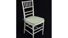 """Image of a Chair: Cushion Celadon Twill 1"""" w/ Ties"""