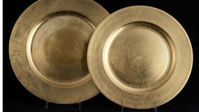 Image of a Base Plates: Lacquer Gold 12""