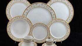 """Image of a Base Plates: Floral Rim Chop 12"""""""