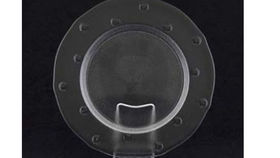 Image of a Base Plates:  Bubble Clear Glass 13""